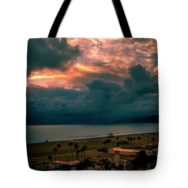 The Storm Moves On Tote Bag