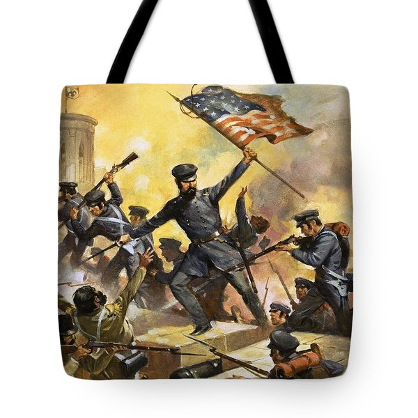 The Storming Of The Fortress At Chapultec Tote Bag