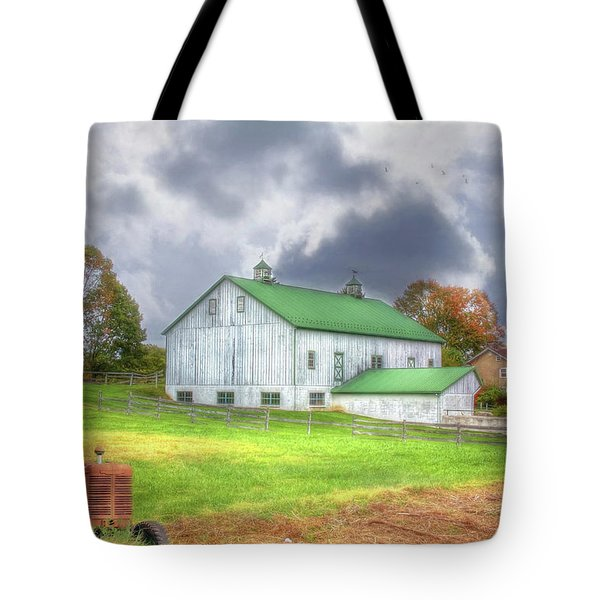 The Storms Coming Tote Bag by Sharon Batdorf