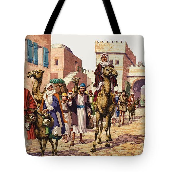 The Story Of Isaac  Tote Bag by Pat Nicolle