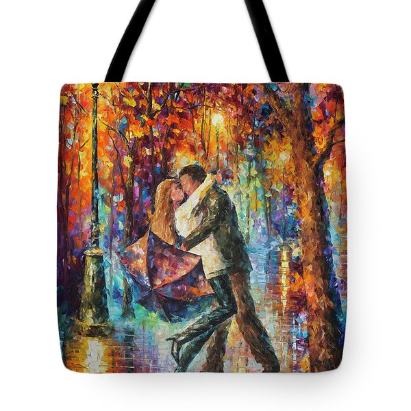 The Story Of The Umbrella Tote Bag by Leonid Afremov