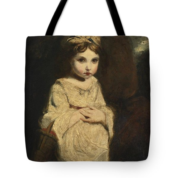 Tote Bag featuring the painting The Strawberry Girl by Studio of Sir Joshua Reynolds