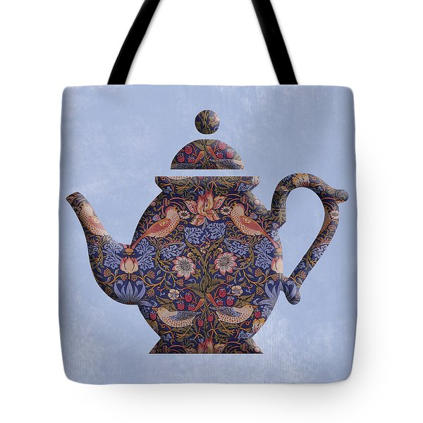 The Strawberry Thief Pattern Teapot Tote Bag
