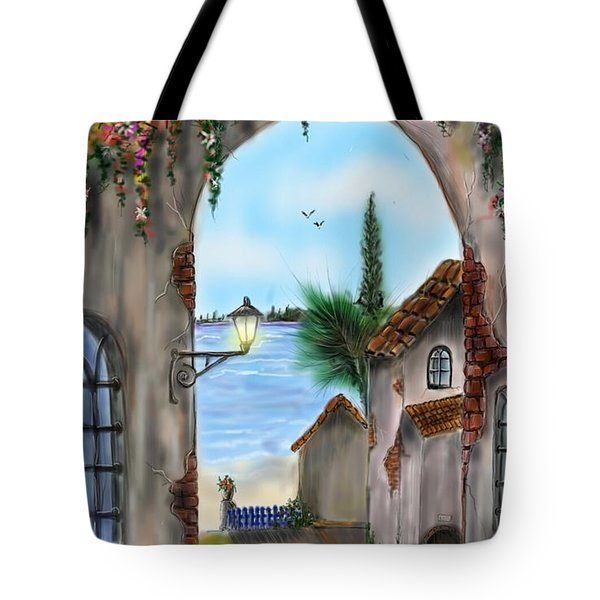 Tote Bag featuring the digital art The Street by Darren Cannell