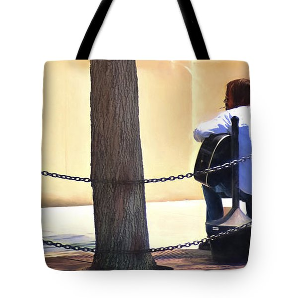 The Street Musician Tote Bag