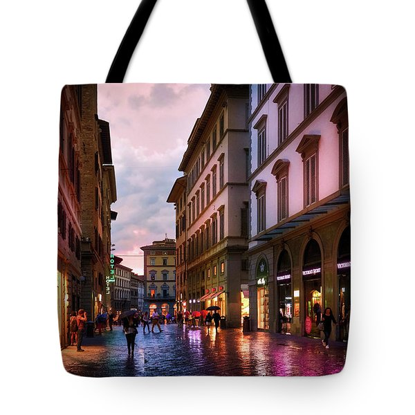 The Streets Of Florence Tote Bag