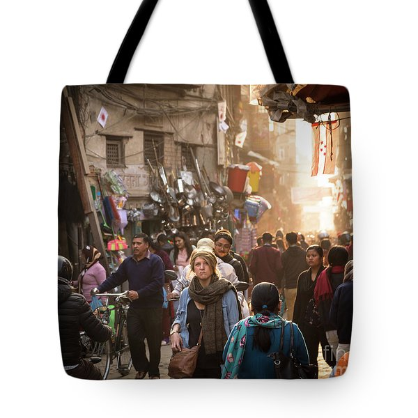 The Streets Of Kathmandu Tote Bag