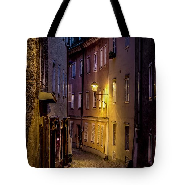 Tote Bag featuring the photograph The Streets Of Salzburg by David Morefield