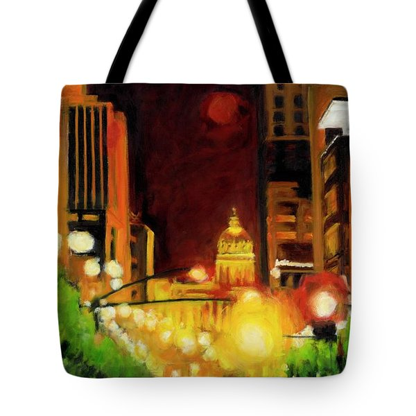 The Streets Run With Crimson And Gold Tote Bag