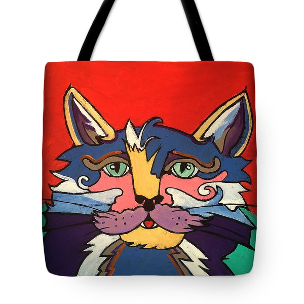 The Streetwise Old Colorful Cat Prints By Robert Erod Tote Bag