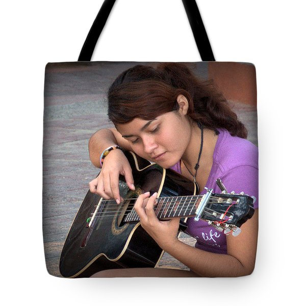 Tote Bag featuring the photograph The Student by Jim Walls PhotoArtist