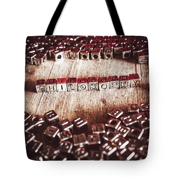 The Study Of Free Thinking Tote Bag