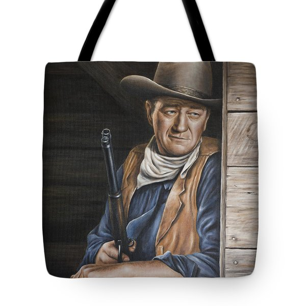 Tote Bag featuring the painting The Stuff Men Are Made Of by Kim Lockman