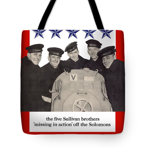 The Sullivan Brothers - They Did Their Part Tote Bag
