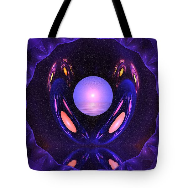 Tote Bag featuring the digital art The Summer Pearl by Mario Carini