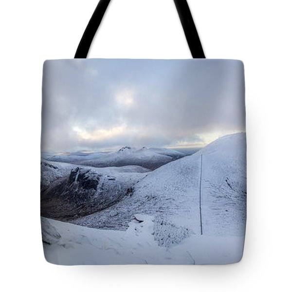The Summit And Down The Wall Tote Bag