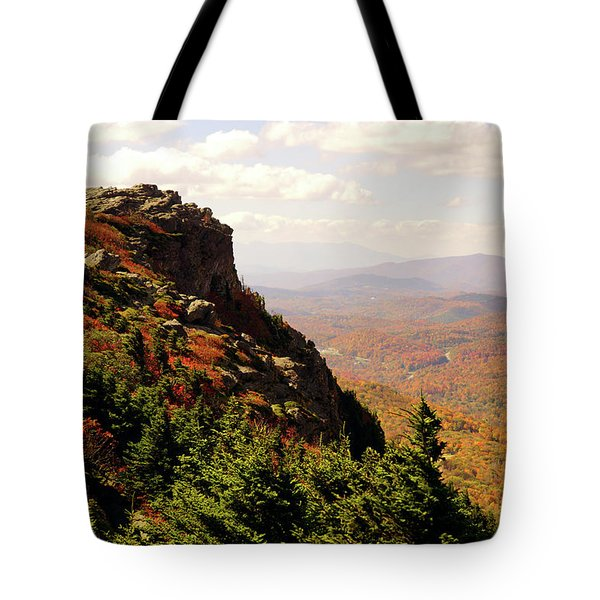 Tote Bag featuring the photograph The Summit In Fall by Meta Gatschenberger