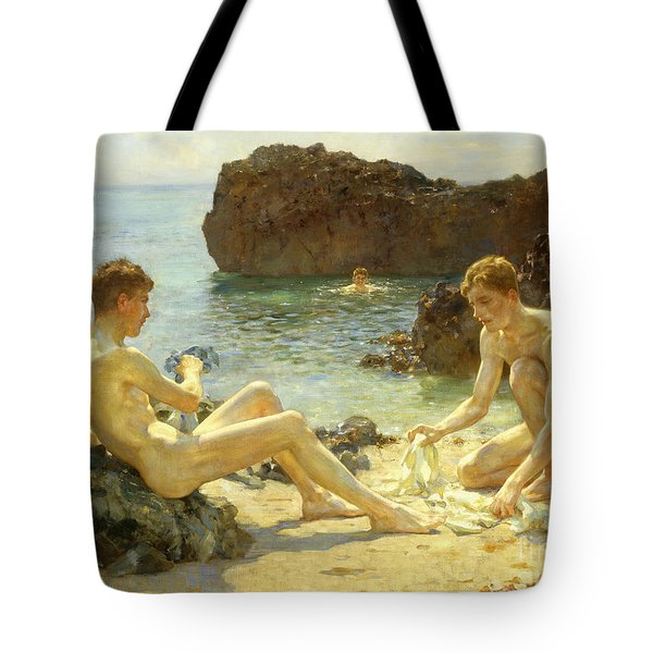 The Sun Bathers Tote Bag