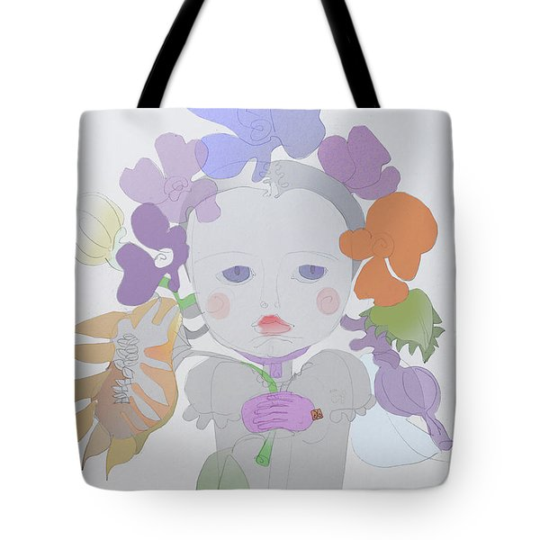 The Sun Flower Child Fairy Tote Bag by Iordache Alice