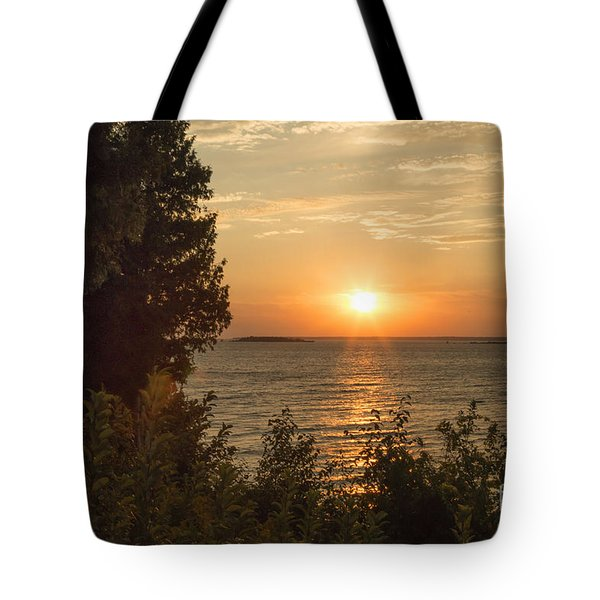 The Sun Is Setting Tote Bag