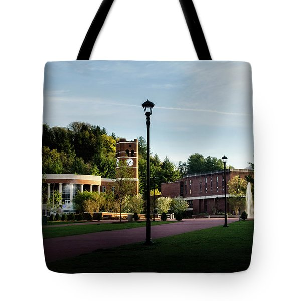 The Sun Rises On Western Carolina University Tote Bag