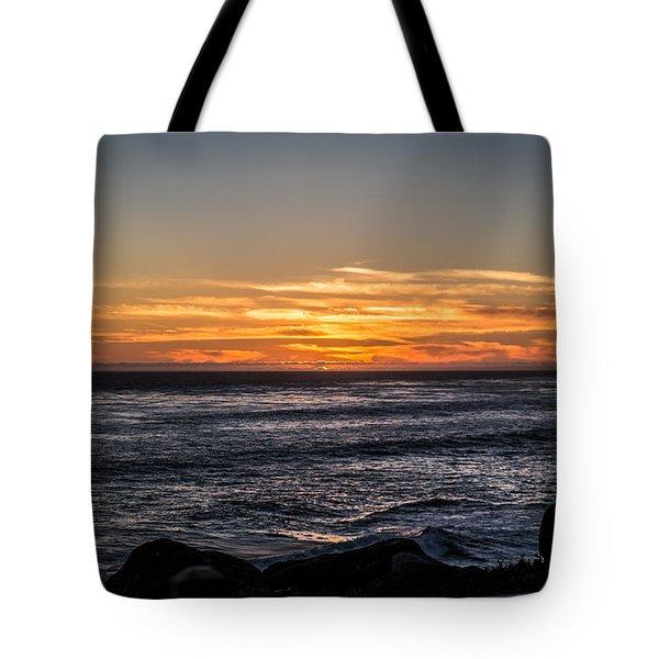 The Sun Says Goodbye Tote Bag