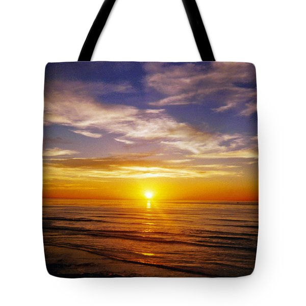 The Sun Says Goodnight Tote Bag by Jean Haynes