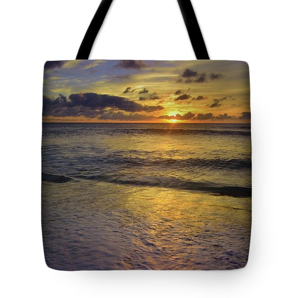 Tote Bag featuring the photograph The Sun Sets Softly In Molokai by Tara Turner
