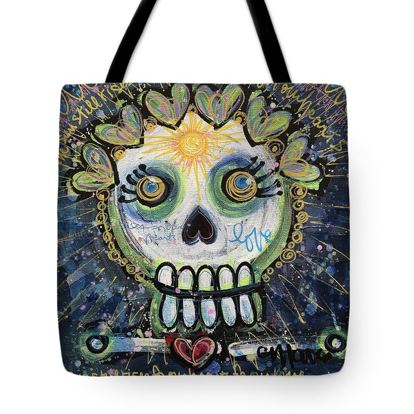The Sun Still Shines For Our Hearts Tote Bag by Laurie Maves ART