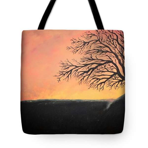 The Sun Was Set Tote Bag