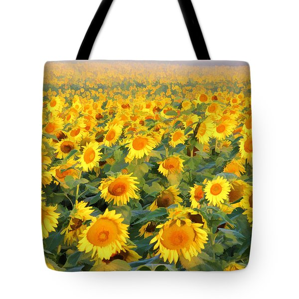 Tote Bag featuring the photograph The Sunflower Field by Marla Craven