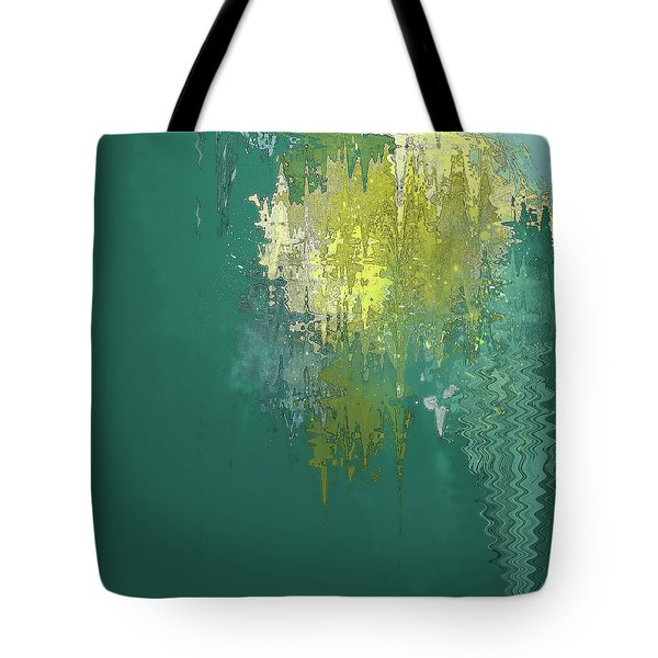 Tote Bag featuring the digital art The Sunken Cathedral by Gina Harrison