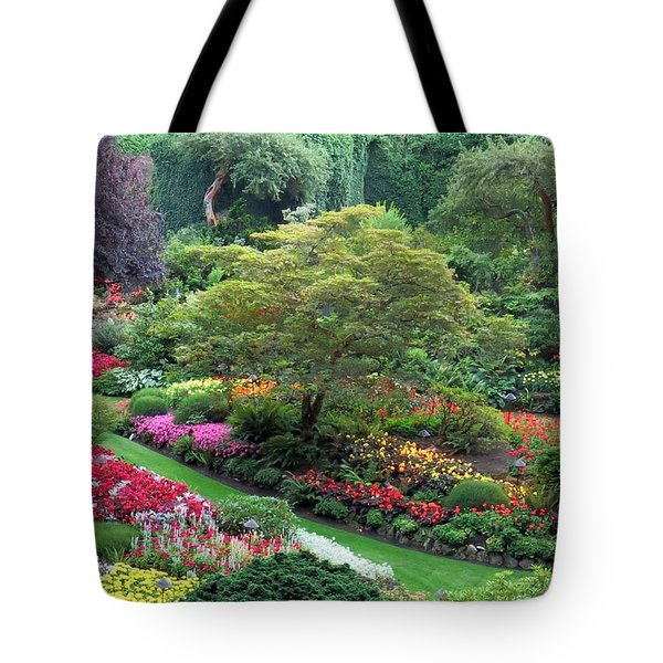 The Sunken Garden At Dusk Tote Bag