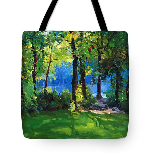 The Sunny Side Of A Pond Tote Bag