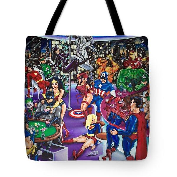 The Superhero Hangover Tote Bag