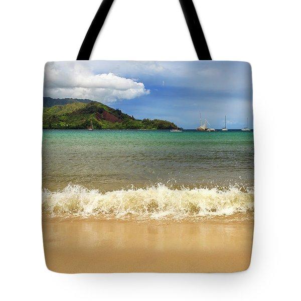 The Surf At Hanalei Bay Tote Bag