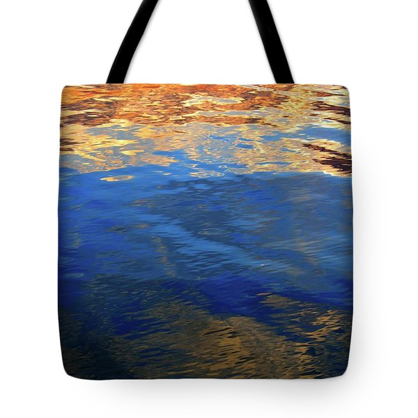 The Surface Is A Reflection  Tote Bag