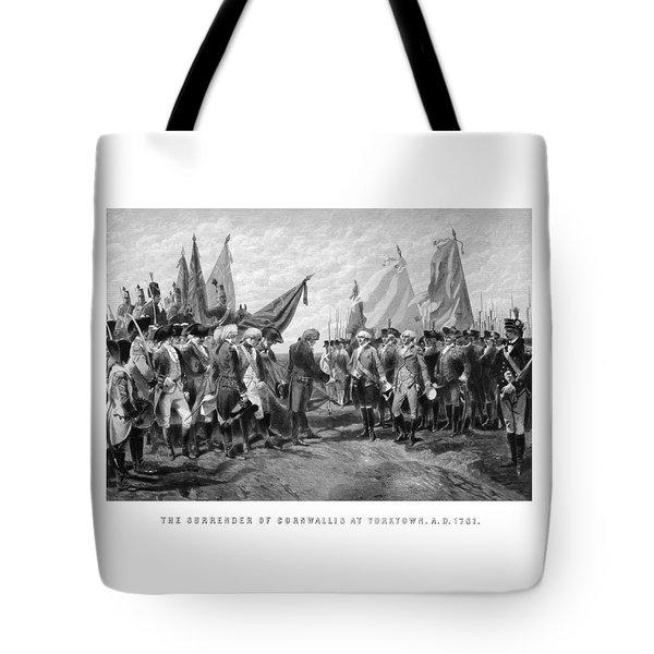 The Surrender Of Cornwallis At Yorktown Tote Bag by War Is Hell Store