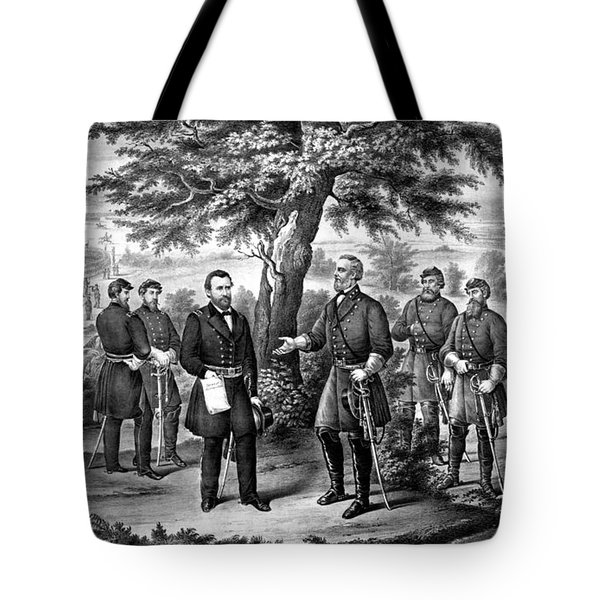 The Surrender Of General Lee  Tote Bag by War Is Hell Store