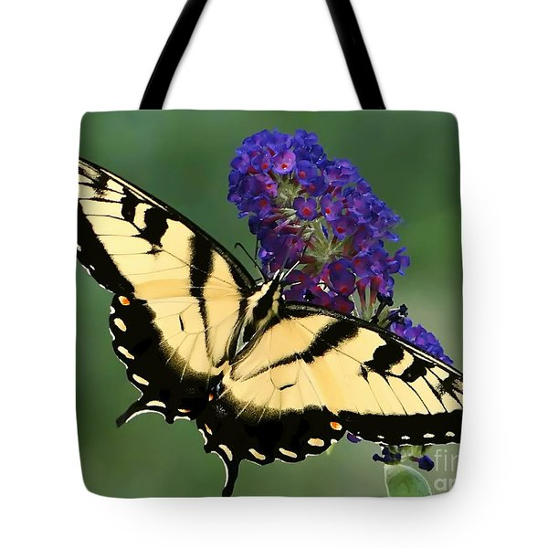 Tote Bag featuring the photograph The Swallowtail by Sue Melvin