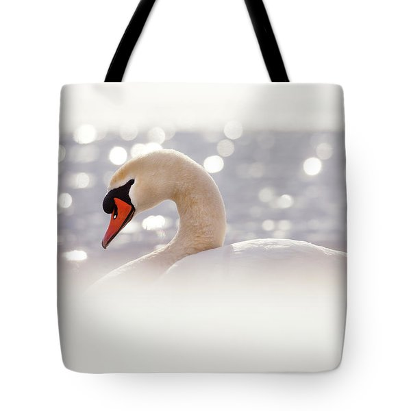 The Swan And  The Snow Tote Bag