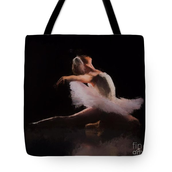 Tote Bag featuring the painting The Swan  by Rosario Piazza