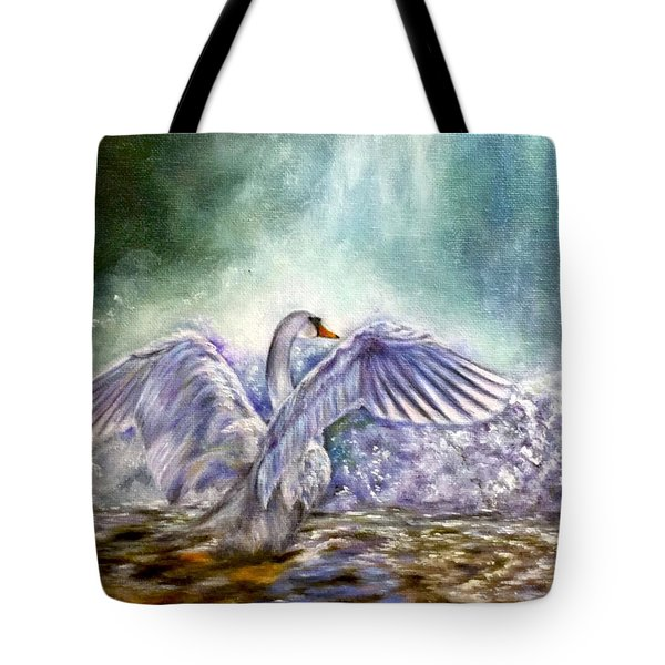 The Swan's Song Tote Bag