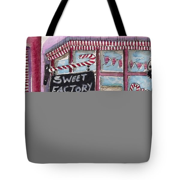 The Sweet Factory Tote Bag by Lucia Stewart