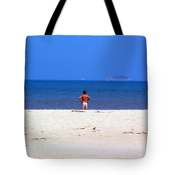 Tote Bag featuring the photograph The Swimmer by Ethna Gillespie