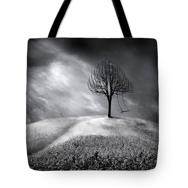 The Swing That Swings Alone Tote Bag