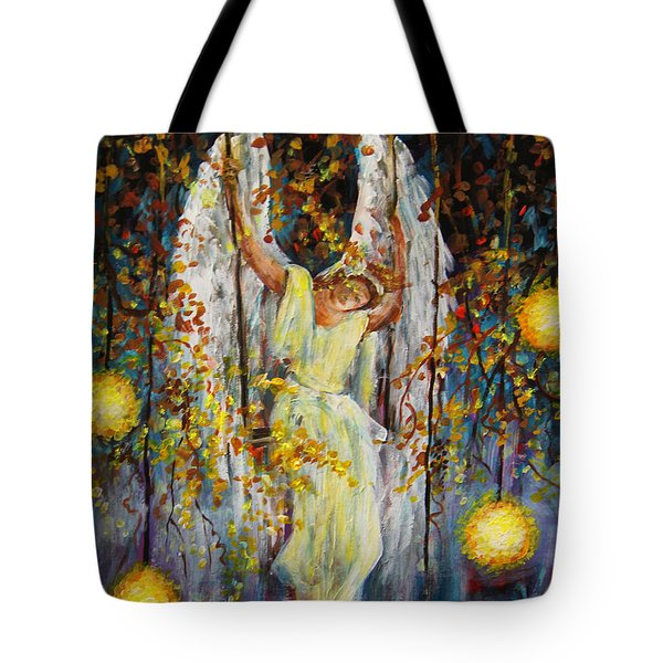 The Swinging Angel Tote Bag