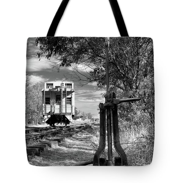 The Switch And The Caboose Tote Bag by James Eddy