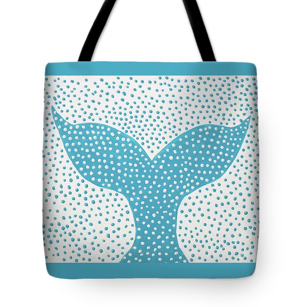 The Tail Of The Dotted Whale Tote Bag