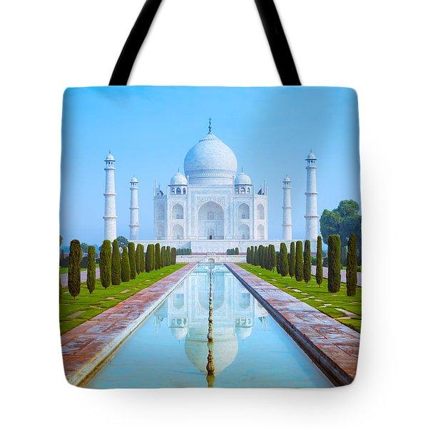 The Taj Mahal Of India Tote Bag